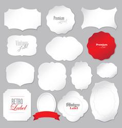 set retro labels vector image