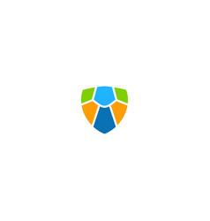 shield protect colorful logo vector image