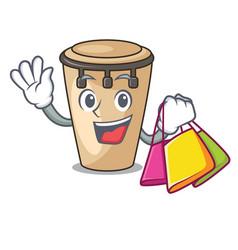 Shopping conga character cartoon style vector