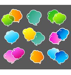 Speech bubble colorful vector image vector image