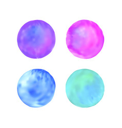 spot pastel set watercolor stains vector image