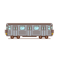 subway train vector image