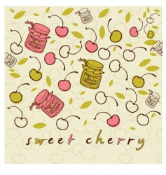 sweet cheery vector image