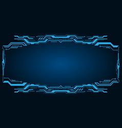 technology futuristic frame virtual panel vector image