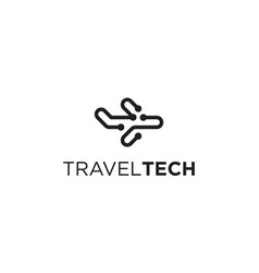 travel technology logo design concept vector image
