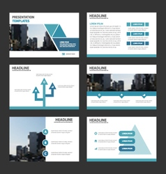 Triangle presentation templates Infographic set vector