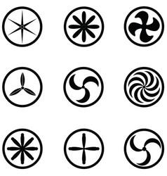 Turbine icon set vector