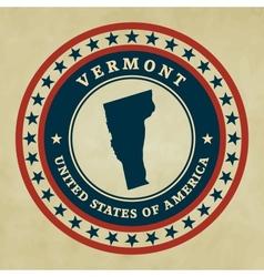 Vintage label Vermont vector