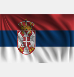 Waving republic serbia vector