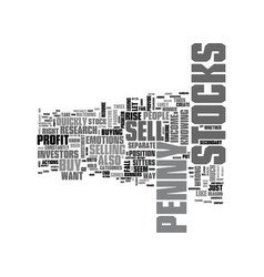 When to sell penny stocks text word cloud concept vector