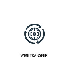 Wire transfer icon simple element vector