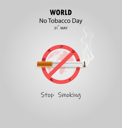 World no tobacco day infographic background vector
