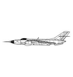 yakovlev yak-28i brewer-c vector image