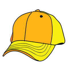 yellow cap on white background vector image