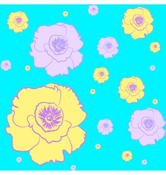 beautiful seamless wallpaper with peonies vector image