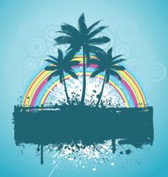 palm tree grunge vector image