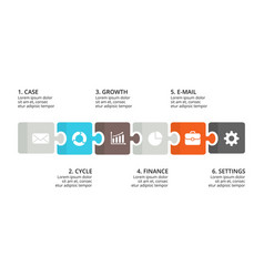 puzzle timeline infographic diagram chart vector image vector image