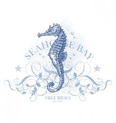 seahorse bay vector image vector image