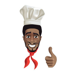 african men smiling chef vector image