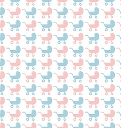 Baby stroller pattern vector image vector image