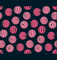 circle red beads on black background creative vector image vector image