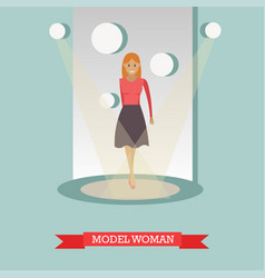 flat of model woman in casual vector image