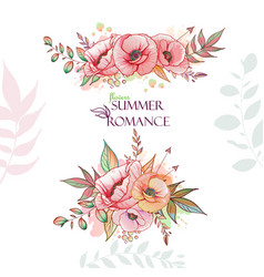 flovers summer romance vector image vector image
