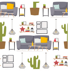 furniture room interior design apartment home vector image vector image