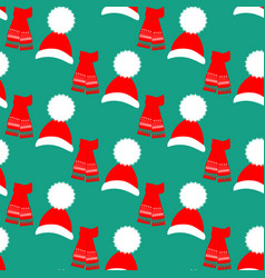 hat and scarf pattern vector image vector image