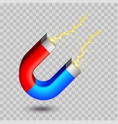 horseshoe magnet isolated on white vector image