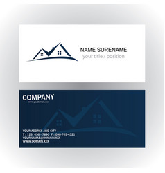 real estate logo business card vector image