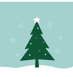 Retro winter Merry Christmas Tree vector image vector image