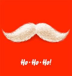 santas mustache vector image vector image