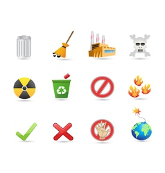 special icon for eco design vector image