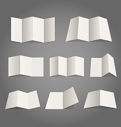 Different paper map collection vector