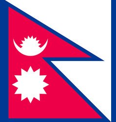 nepal flag flat style vector image