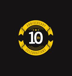 10 years anniversary celebration logo template vector