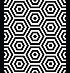 3d seamless pattern with hexagon black shapes vector image