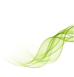 Abstract background with green transparent wavy vector