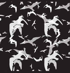 Abstract pattern of bird on the black vector
