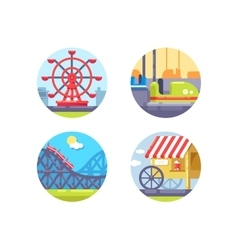 Amusement park and recreation vector