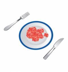 appetizing caviar vector image