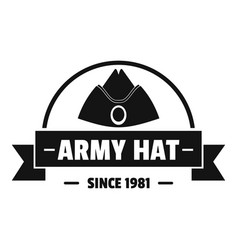 Army hat logo simple black style vector