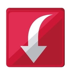 arrow down isolated icon design vector image