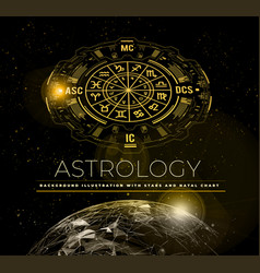 astrology background example natal chart vector image