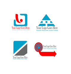 awesome logo collection vector image