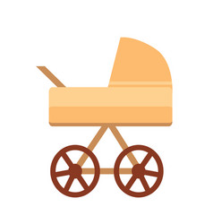 baby stroller with wheels vector image