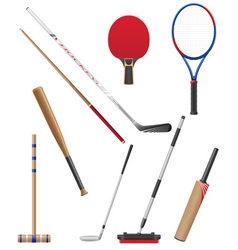 bits and stick to sports vector image