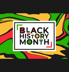 Black history month banner template with colorful vector