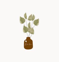 botanical trendy home interior vector image